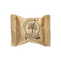 100 Capsule Caffè Top Arabico Sovrano Compatibili Sistema Lui E Coop