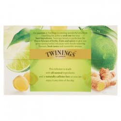 Twinings Infuso Aromatizzato Ginger & Lime 20 filtri