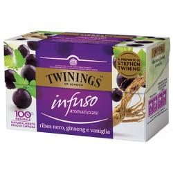 Twinings Infuso Ribes Nero, Ginseng e Vaniglia 20 filtri