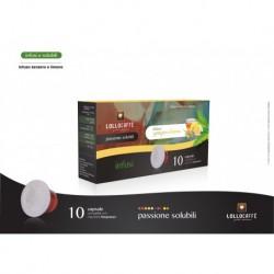 10 Capsule Tisane Solubili Lollo Zenzero e Limone Compatibili Sistema Nespresso